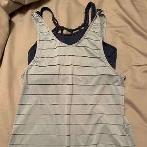 Athleta tank top and sports bra set